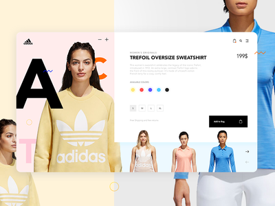 Adidas Ecommerce Store Concept - Product Card