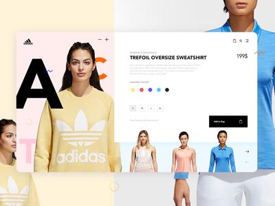 Adidas Ecommerce Store Concept - Product Card ux ui minimal clean marcinrumierz 7ninjas clothes shop design store ecommerce adidas