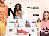 Adidas Ecommerce Store Concept - Home page