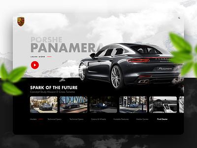Panamera Ecommerce Visual Concept marcinrumierz porsche exclusive elegant clean modern design car shop ecommerce app store