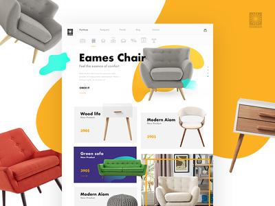 Furniture Ecommerce Concept marcinrumierz 7ninjas ux ui modern clean minimal design shop store ecommerce furniture