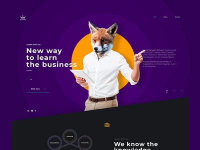 Brilliant Mind Landing Page team designer ux ui brainding business intervi landing page design modern clean marcinrumierz