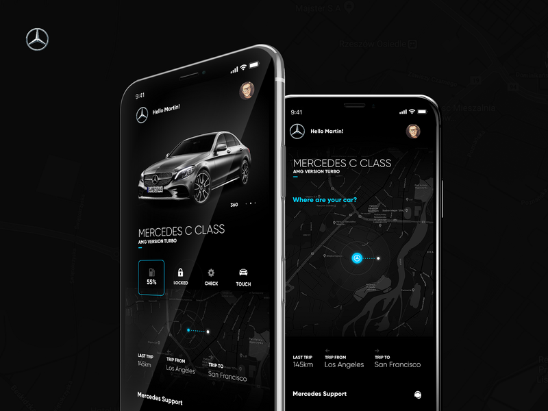 Mercedes Me App by Marcin Rumierz for Intervi on Dribbble