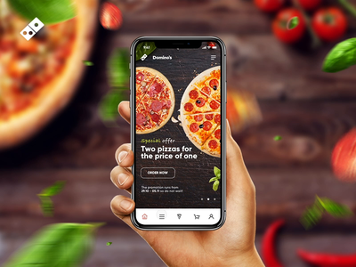 Domino's Pizza Order App Concept app ui ux concept food pizza mobile order tasty video animation principle domino pizza food order cart foodapp design app concept app animation pizza app