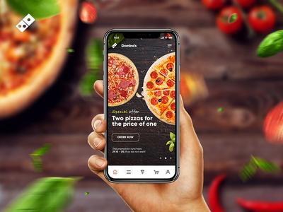 Domino's Pizza Order App Concept