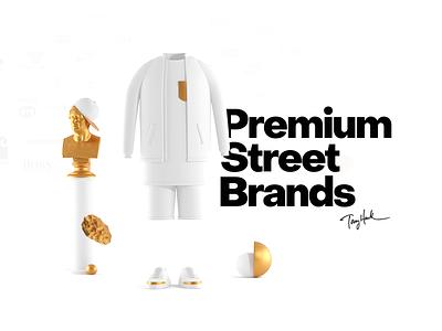 Premium Street Brands Ecommerce Concept skateboard streetwear interactive marcinrumierz intervi webdesign mobile premium gold 3d street ux ui skate