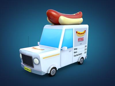 Hotdog Van
