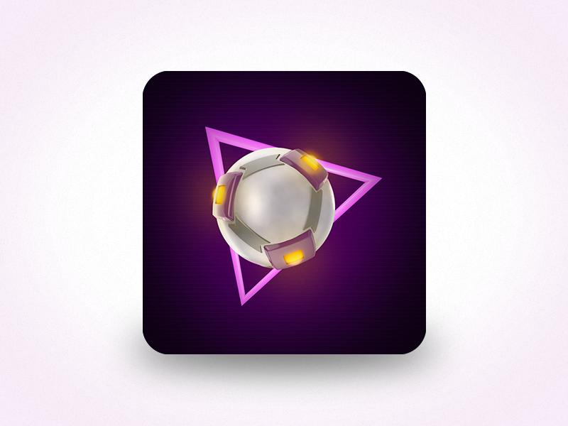 Super Hyper Ball Icon 3d unity ios iphone ipad 80s retro arcade breakout pinball app icon