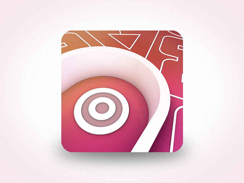 Spiral Splatter Icon action arcade puzzle 2d unity ipad iphone ios game app icon