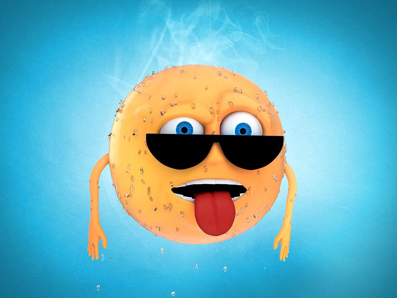 Heatstroke cartoon sweat sun summer illustration character 3d