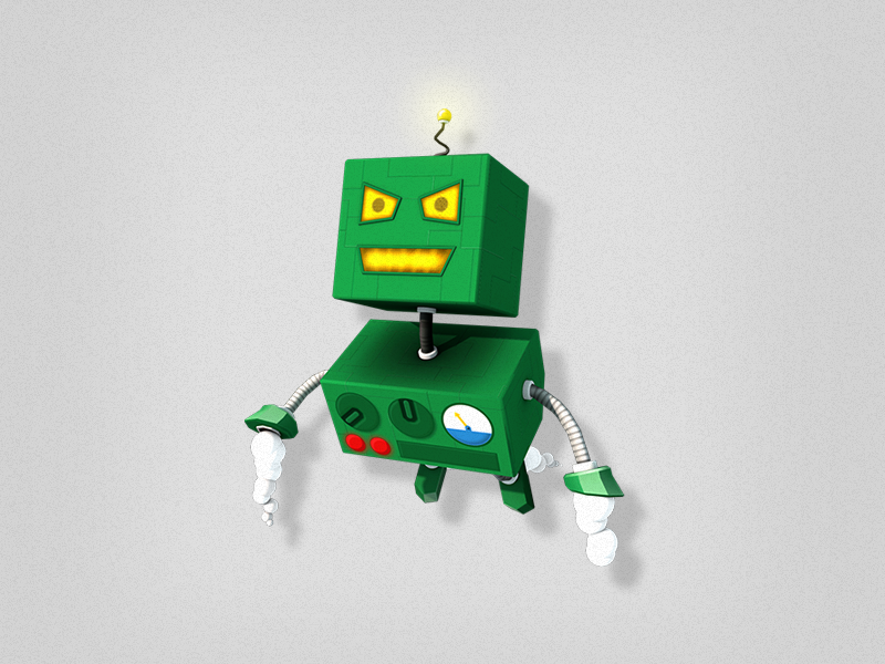 Toy Robot toy robot cartoon character lowpoly low poly illustration 3d
