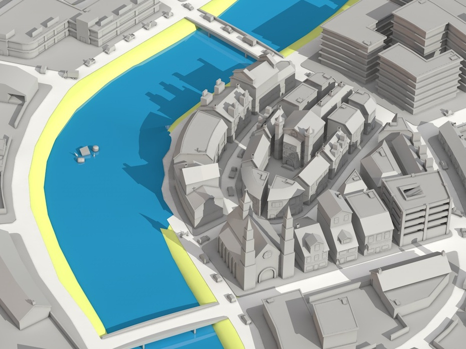 Low Poly City Map interactive realtime city plattegrond map low poly illustration 3d