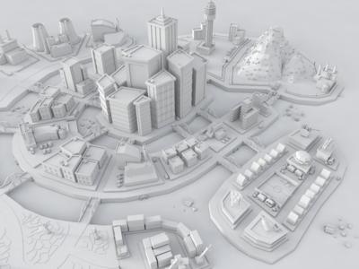 3D Low Poly City #2