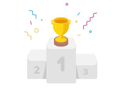 Cup podium ladder ranking rank school