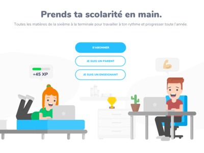 Education app homepage