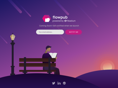 Coming Soon Landing Page - FlowPub