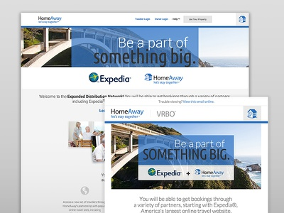 HomeAway | Be a part of something BIG landing page homeaway