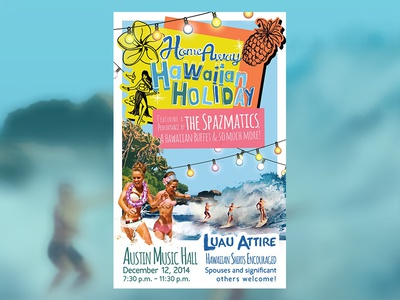 HomeAway Hawaiian Holiday Party Poster travel hawaii homeaway typography poster