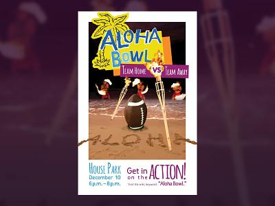 HomeAway Aloha Bowl Poster typography design illustration