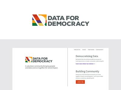 Data For Democracy Logo and Brand Identity website logo branding design branding