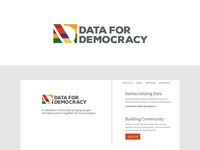 Data For Democracy Logo and Brand Identity