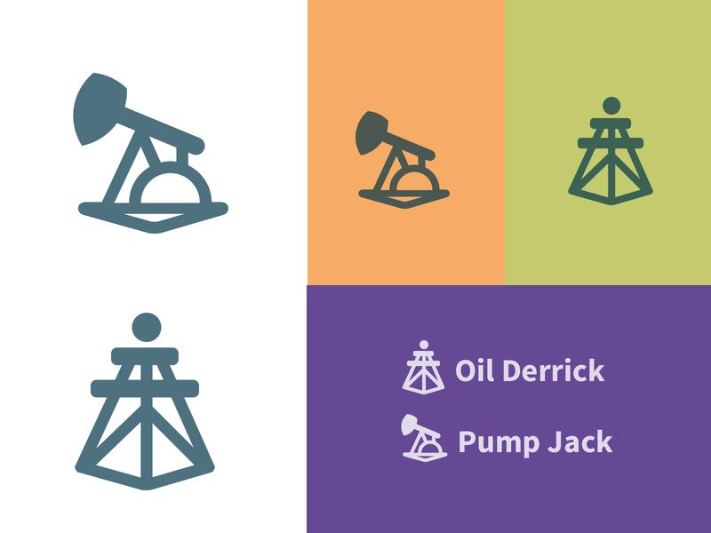 Oil and Gas Icons logo design icon