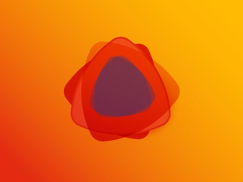 Reuleaux Triangle Shape & Color Study color color study shape logo