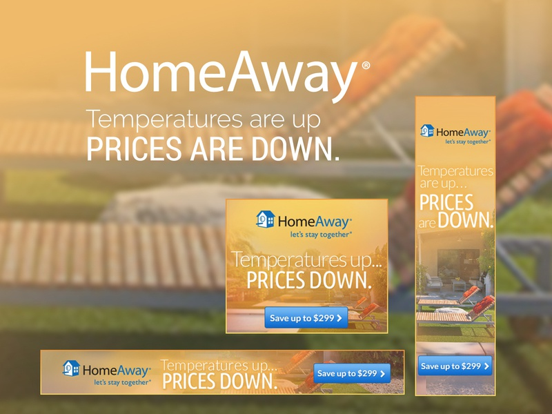 HomeAway Flash Sale Banner Ads ppc branding banner ads