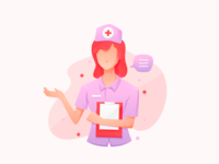 Pregnancy Nurse Onboarding Illustration