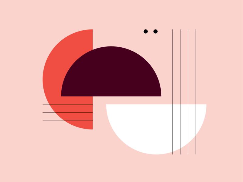 Shape & Color Study abstact pink shape color