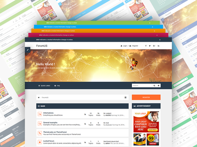 ForumUS | Responsive phpBB 3.1 & 3.2 Style / Theme bootstrap flat forum forum with sidebar modern phpbb phpbb 3.2 phpbb 3.2 style phpbb 3.2 theme phpbb style phpbb theme responsive