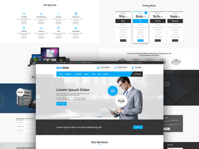 Bizwalls | World #1st VOIP, Telecom Business WordPress Theme voip business voip virtual phone number telecom sms rates responsive rates calculator pricing table multipurpose cloud service calling rates business theme