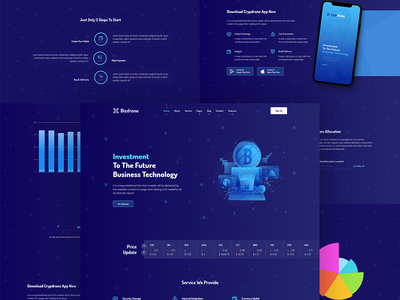 Bizdrone Cryptocurrency theme whmcs 7 web hosting wordpress whmcs multipurpose voip cloud service hosting responsive