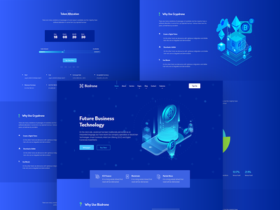 Bizdrone Cryptocurrency Version 2 web hosting business theme modern wordpress whmcs hosting multipurpose cloud service voip cryptocurrency responsive