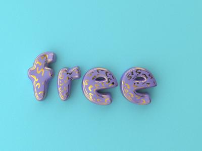 Free 3D type scene | Cinema 4d + Octane