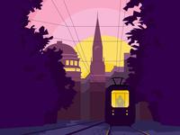 Romantic tram