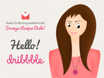 First Shot dribbble locket character thanks hello invite first shot debut