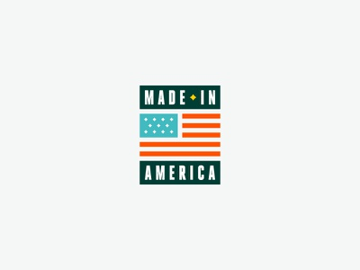 MADE IN AMERICA™ usa icon logo badge made in usa made in america