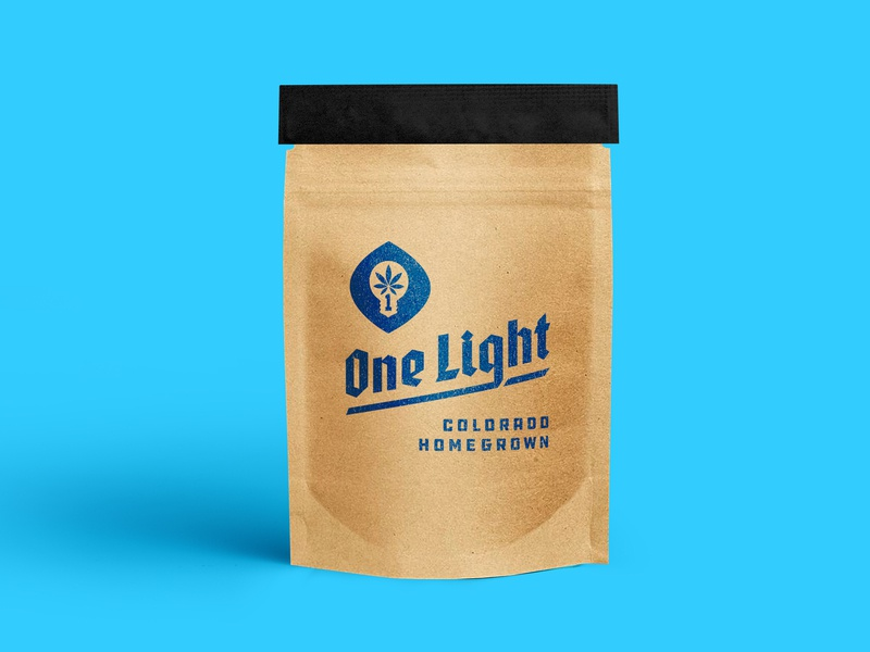 One Light Branding type identity icon clean mark texture natural dispensary weed marijuana homegrown typography gothic modern bold stamp logodesign logo packaging branding