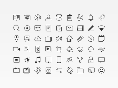 Suru Mono Icons ubuntu icons