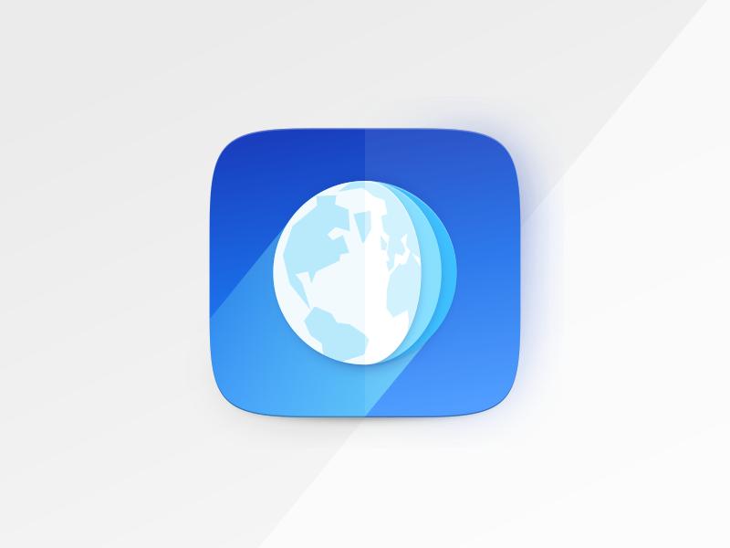 Dribbble webbrowser app icon fold03
