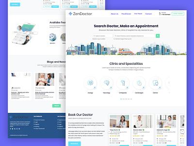 zendoctor- on demand doctor service iphone x logo branding typography landing page design user interface website mobile app clean illustration