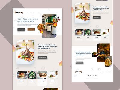 Lanta work 🍜 restaurant app restaurant food digital product squeeze page websites wordpress branding illustration typography landing page design user interface website ux clean dashboard