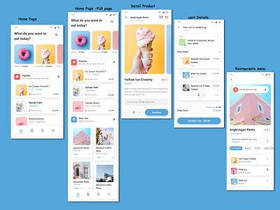 Food app-ui design app design delivery app food app illustration design typography landing page user interface website mobile app clean dashboard ui ux