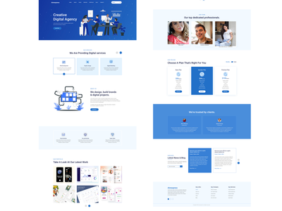 Agency Landing Page design user interface website mobile app clean dashboard ui ux