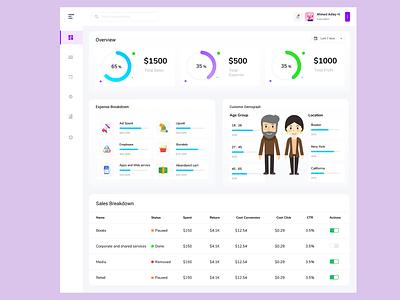 Dashboard Design graphic design ui illustration design website user interface mobile app dashboard