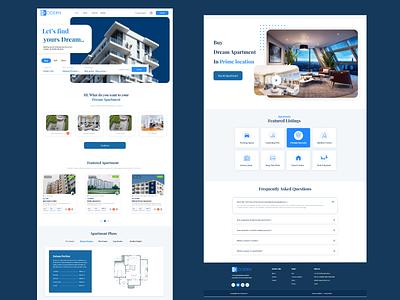 Real Estate Webpage website user interface mobile app clean dashboard ux ui