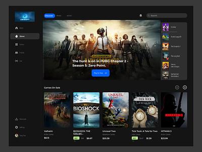Games Dashboard clean user interface design website mobile app ui dashboard