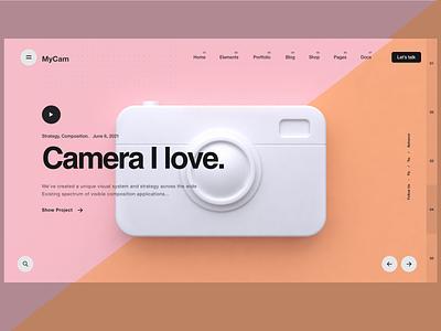 Photographer portfolio illustration design user interface mobile app