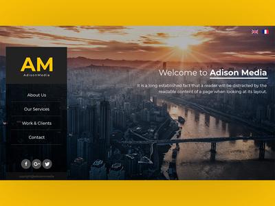 Landing page design concept for Adsion Media center